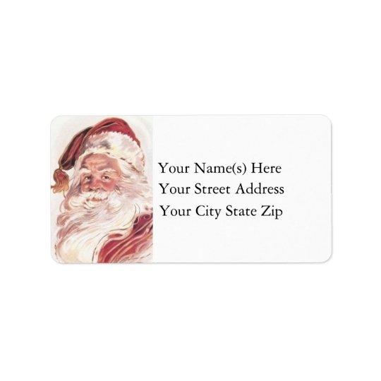 Classic Santa Vintage Christmas Label