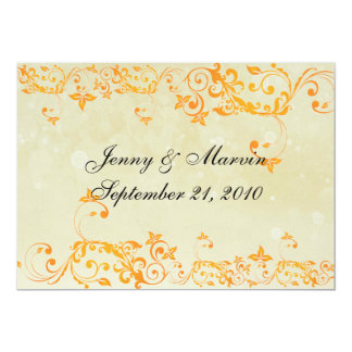 Classic Save the Date Sunny Yellow 13 Cm X 18 Cm Invitation Card