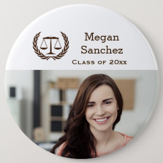 Classic Scales of Justice Law School Graduation 6 Cm Round Badge