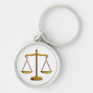 Classic Scales of Justice | Lawyers Key Ring