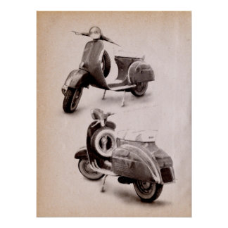 Classic Scooter 1969 Poster