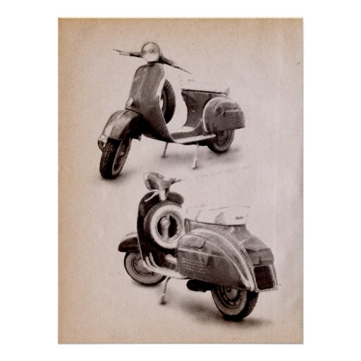 Classic Scooter 1969 Print