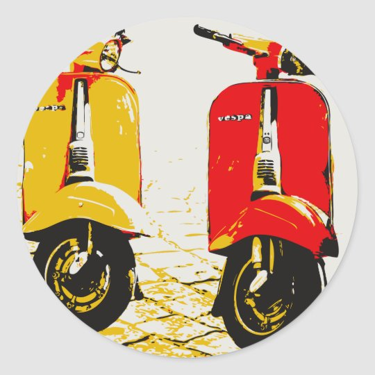 Classic Scooter Classic Round Sticker