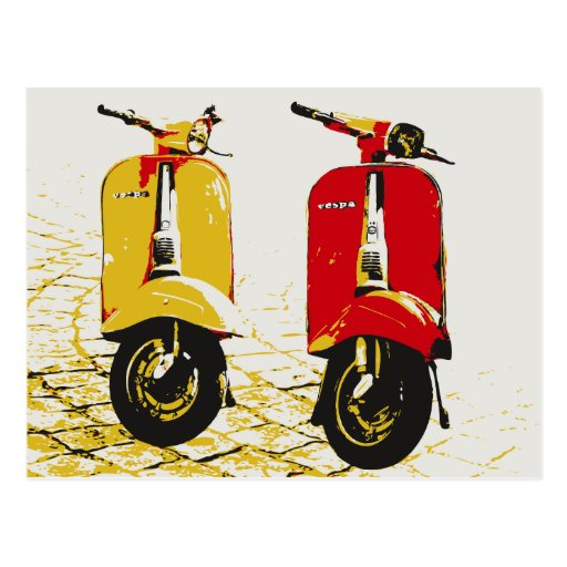 Classic Scooter Post Card