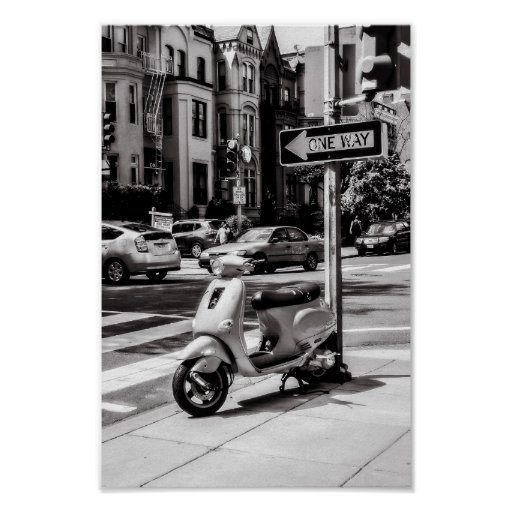 Classic Scooter Poster   New York USA