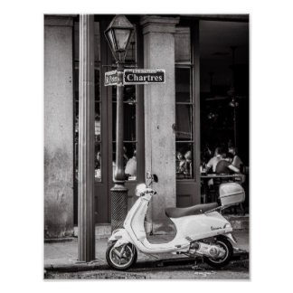 Classic Scooter Poster Paris France
