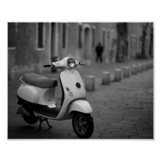 Classic Scooter Poster | Paris France