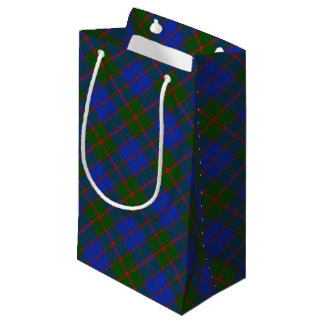 Classic Scottish Clan Tartan Plaid Patterned Small Gift Bag