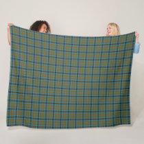 Classic Scottish Clan Thompson Tartan Plaid Fleece Blanket