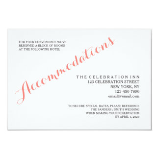 Classic Script | Accommodation Enclosure Card