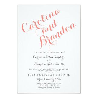 "Classic Script | Elegant Wedding Invitation 5"" X 7"" Invitation Card"