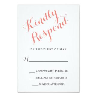 "Classic Script | Elegant Wedding RSVP Card 3.5"" X 5"" Invitation Card"