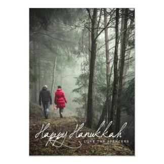 Classic Script | Happy Hanukkah Photo Card