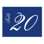 Classic Script Table Numbers (White / Navy Blue)
