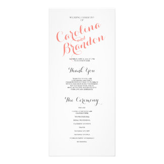 Classic Script | Wedding Program Custom Rack Card