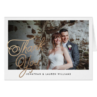 Classic Script Wedding Thank You Card