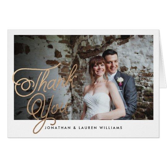 Classic Script Wedding Thank You Card
