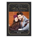 Classic Scroll Christmas Card / Holiday Photo Card 13 Cm X 18 Cm Invitation Card