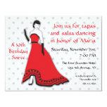 Classic Senorita in Red Custom Invitations