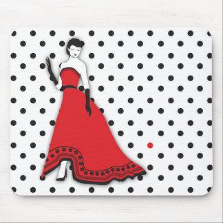Classic Senorita in Red Mouse Pad