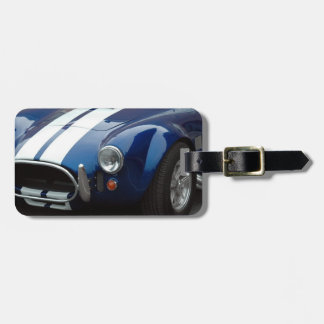 classic shelby sports car luggage tag