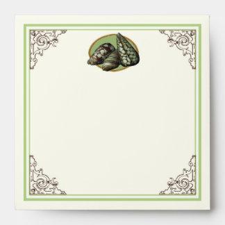 Classic Shells Wedding Invite - Matching Envelope