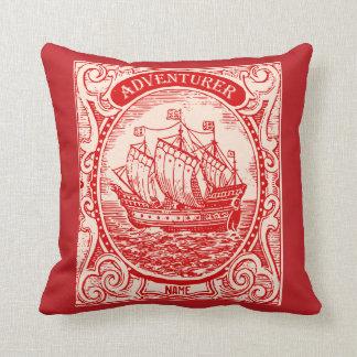 Classic Ship Antique Vintage Naval Sea Adventurer Cushion