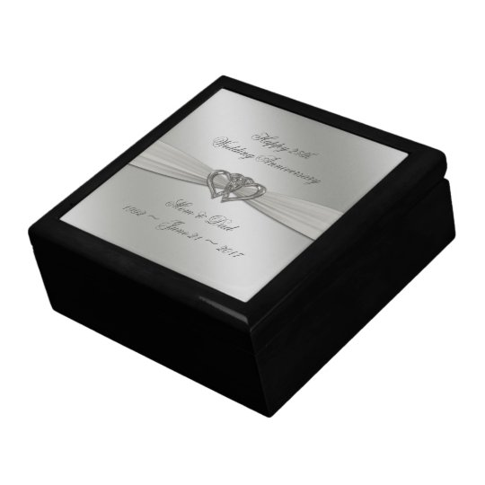 Classic Silver 25th Wedding Anniversary Gift Box
