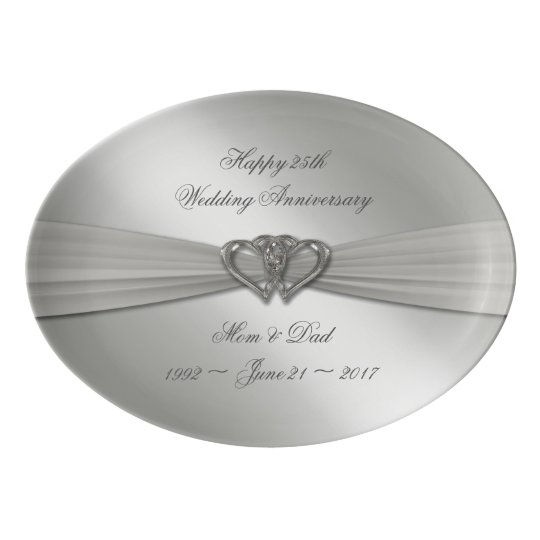 Classic Silver 25th Wedding Anniversary Platter
