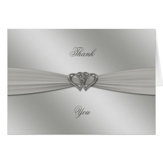 Classic Silver 25th Wedding Anniversary Thank You Card