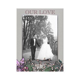 Classic Silver Frame Custom Photo Canvas Print