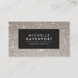 Makeup artist business cards zazzle uk classic silver glitter makeup artist business card colourmoves