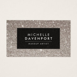 Make up artist business cards business card printing zazzle uk classic silver glitter makeup artist business card reheart Choice Image