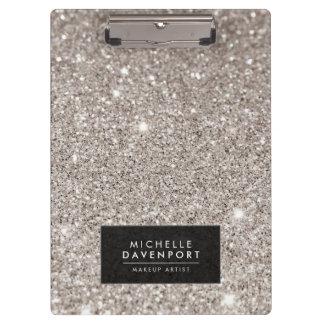 Classic Silver Glitter Personalized Clipboard