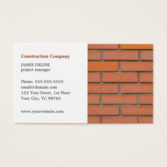 Classic Simple Building Industry Business Card