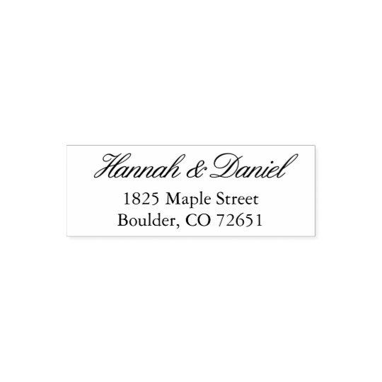Classic Simple Elegant Custom Return Address Stamp