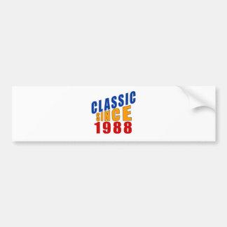 Classic Since 1988 Bumper Sticker
