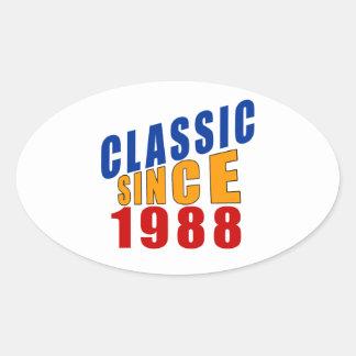 Classic Since 1988 Oval Sticker