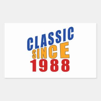 Classic Since 1988 Rectangular Sticker