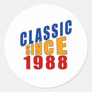 Classic Since 1988 Round Sticker