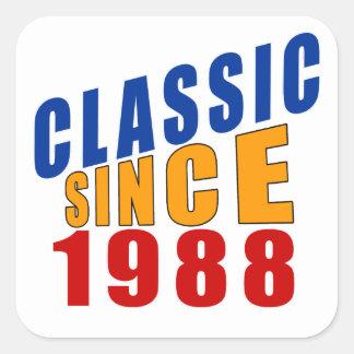 Classic Since 1988 Square Sticker