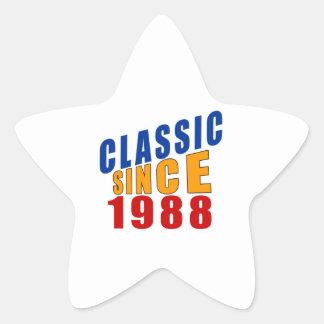 Classic Since 1988 Star Sticker