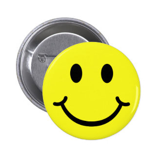 Classic Smiley 6 Cm Round Badge