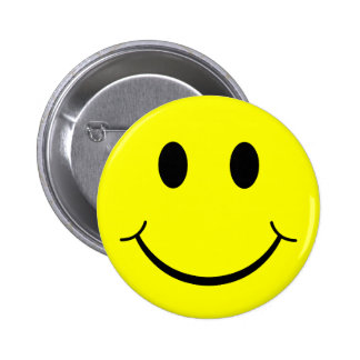 Classic Smiley Face 6 Cm Round Badge