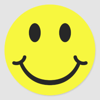 Classic Smiley Round Sticker