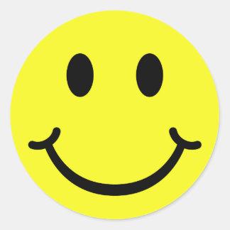 Classic Smiley Round Sticker
