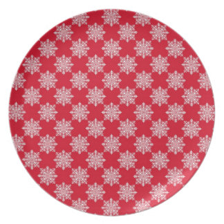 Classic Snowflake Melamine Plate