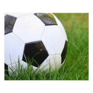 Classic Soccer Ball in the Grass Photo Print