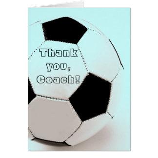 Classic soccer ball - thank you, Coach Greeting Card