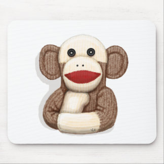 Classic Sock Monkey Mouse Pad